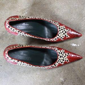 Donald J. Pliner Shoes - Donald J. Pliner leopard haircalf pointed toe pump